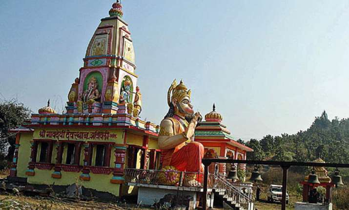 protest in up village over damaged idol in temple