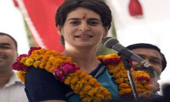 protesters demand priyanka s entry into active politics