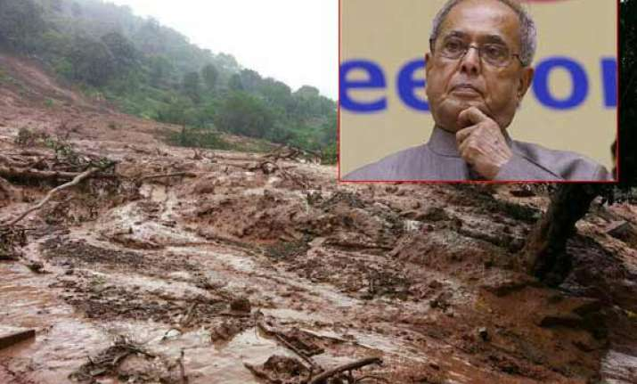 pune landslide pranab mukherjee condoles loss of lives
