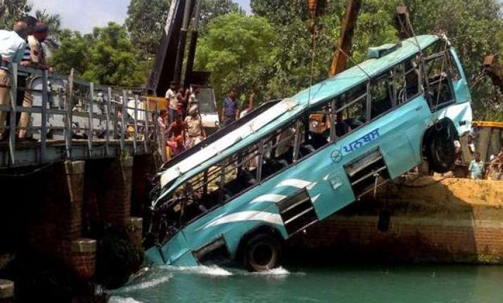 punjab bus mishap 13 bodies recovered so far
