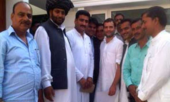 rahul meets j k sarpanches promises to give them more power