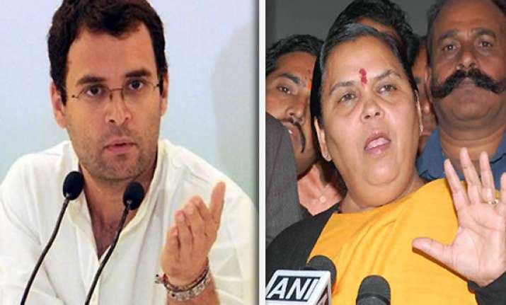 rahul gandhi says uma bharti an outsider will disappear