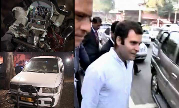 rahul helps accident victim takes him to hospital
