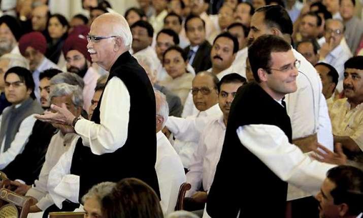 rahul mocks at advani s anti corruption yatra