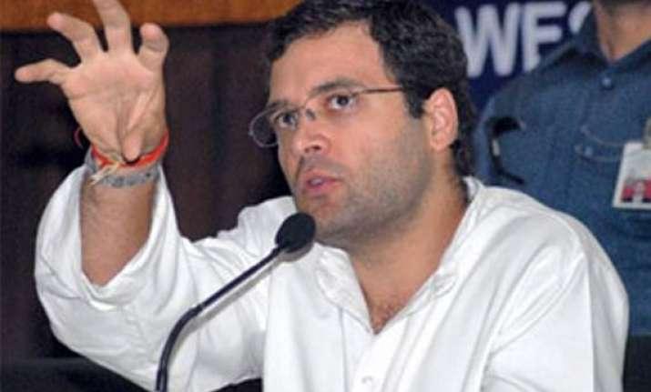 rahul targets mayawati mulayam