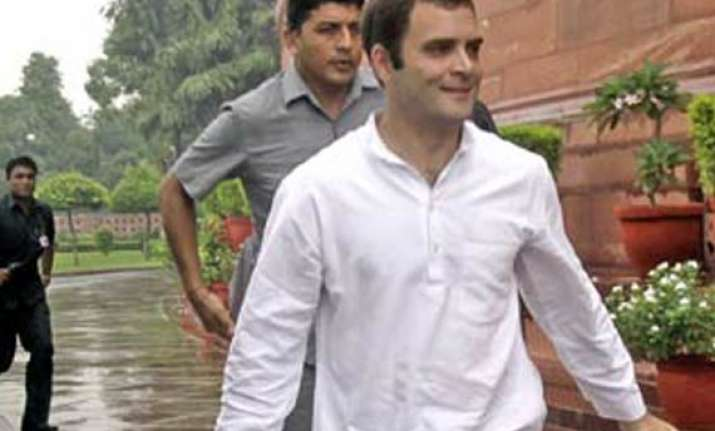 rahul to be present during voting on adj motion on