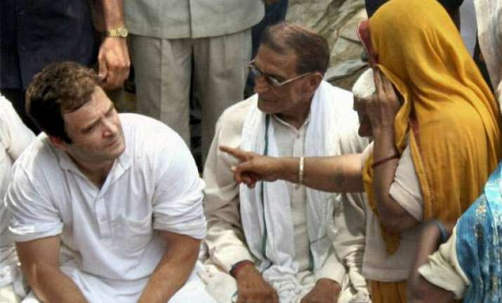 rahul winds up up padayatra returns to delhi