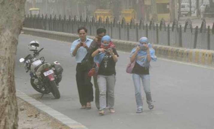 rain brings respite from heat wave for delhiites