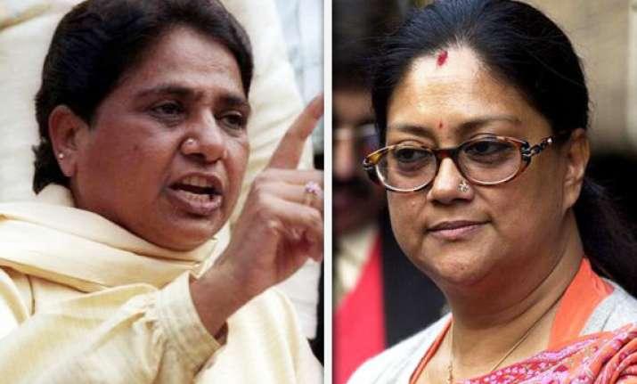 rajasthan congress leader praises mayawati vasundhara