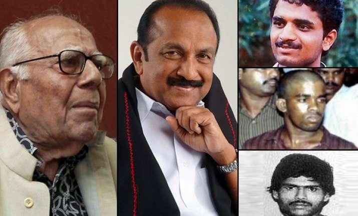 rajiv gandhi killers get 8 week reprieve from hangman s