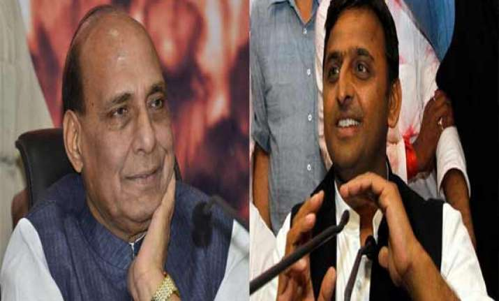 rajnath singh calls up akhilesh yadav asks to ensure peace