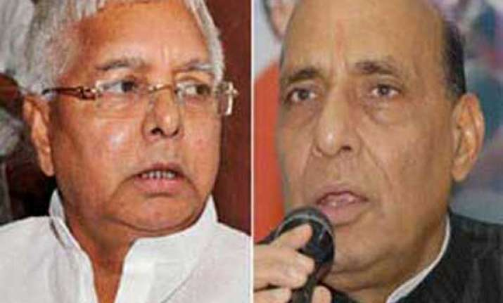 rajnath projecting himself as candidate for top job lalu