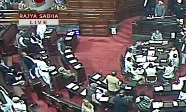 rajya sabha adjourned after uproar by bjp over chidambaram