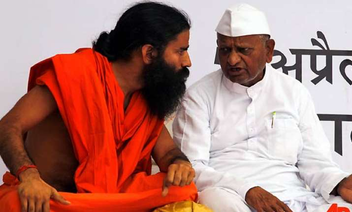 ramdev backtracks says no problem with bhushans on the panel