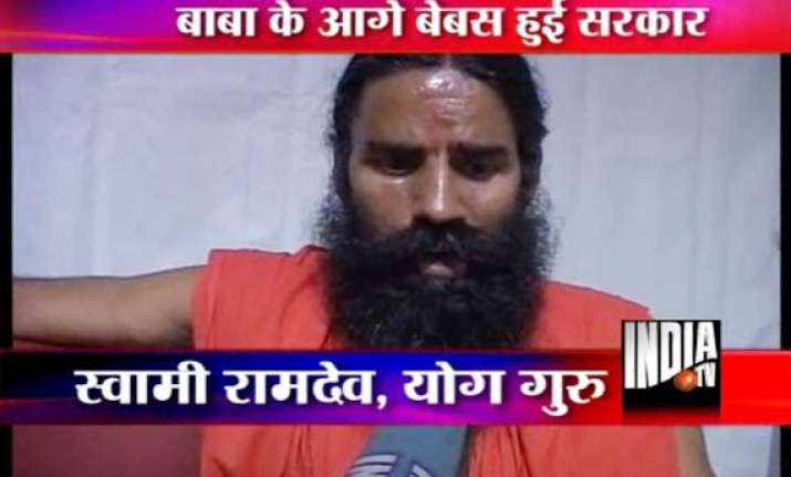 hectic efforts to persuade ramdev