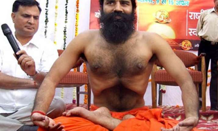 ramdev holds bhajans yoga sessions amidst thousands