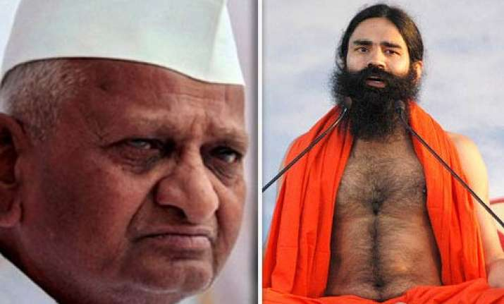 ramdev lashes out at govt over anna hazare fast