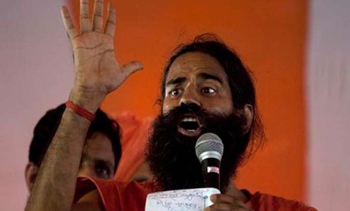 ramdev launches indefinite fast against black money