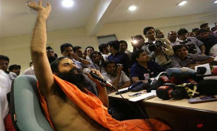 ramdev resumes satyagraha against corruption
