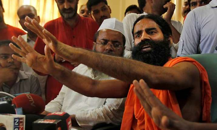 ramdev stopped in up and sent back to haridwar