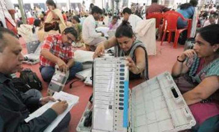 re polling in 12 booths in karnataka on tuesday