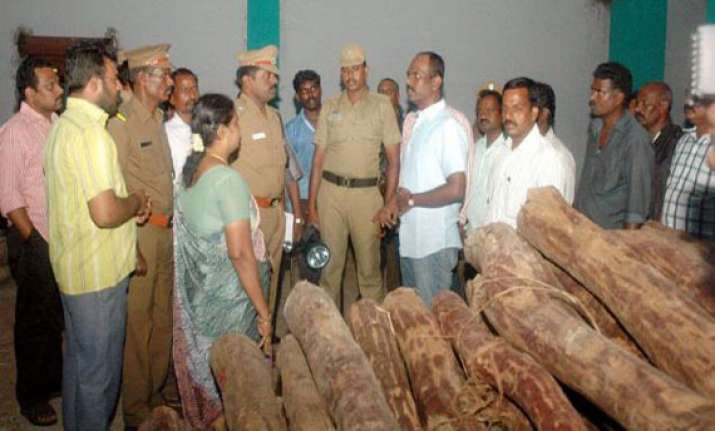 red sanders wood worth rs 10 crore seized at mumbai port
