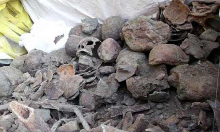 remains of 1857 freedom fighters dug up in punjab gurdwara