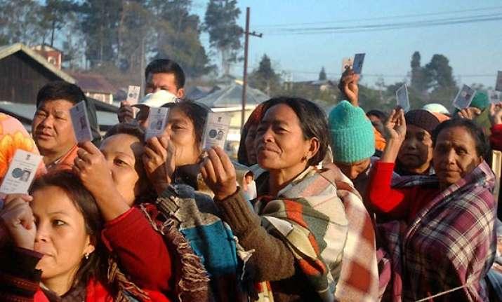 repolling begins in manipur