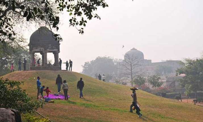 restoration in progress for mehrauli park
