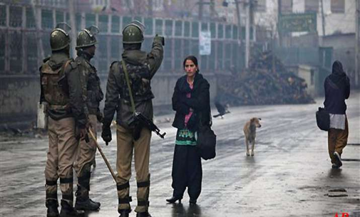 restrictions in srinagar after clashes
