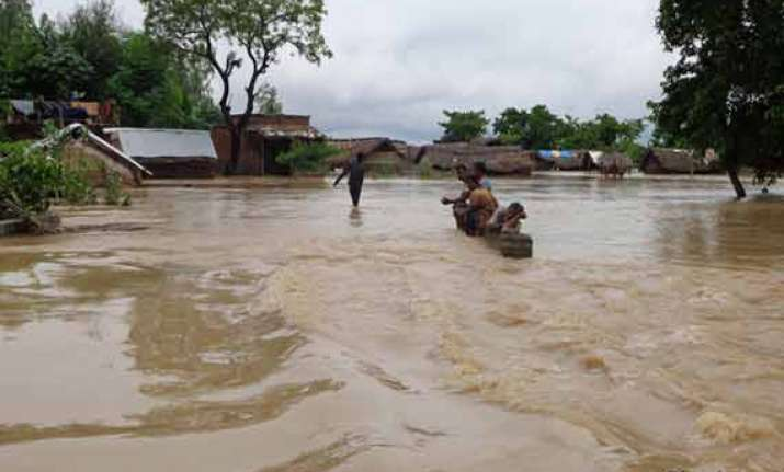 rivers running close to danger mark in up