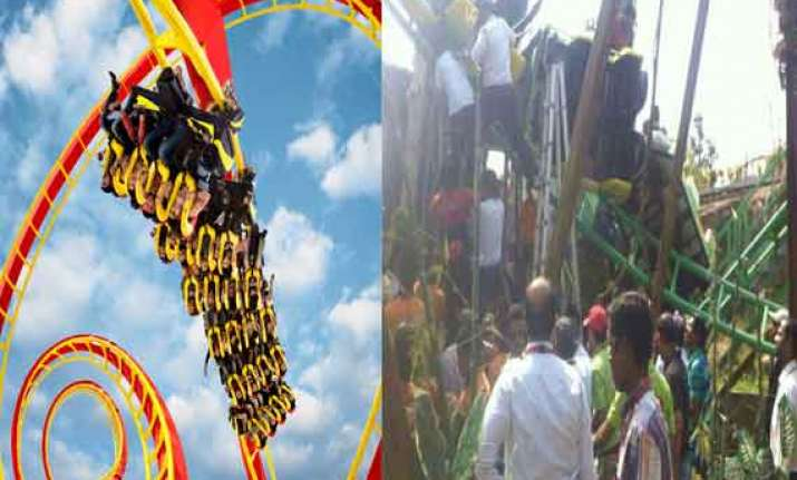 roller coaster crashes in khopoli maharashtra two injured