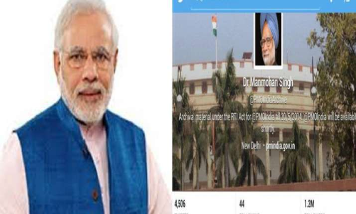 pmo says twitter account pmoindia will be handed over to