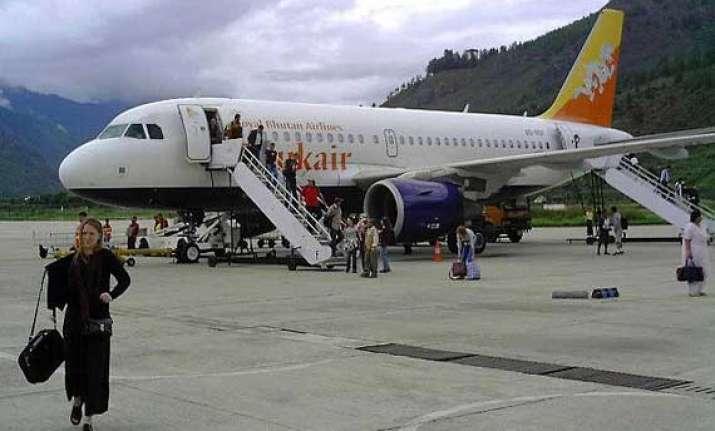 royal bhutan airlines flight makes emergency landing after