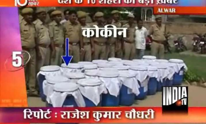 rs 100 cr worth cocaine seized in rajasthan