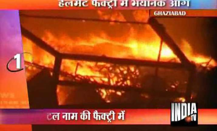 rs 50 lakhs worth goods gutted in ghaziabad factory fire
