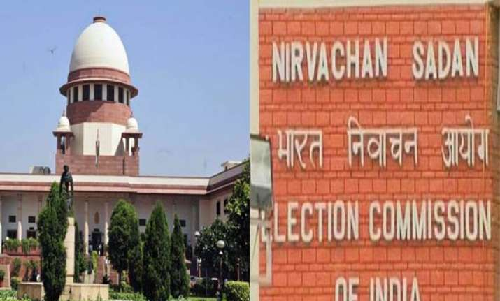 sc notice to ec on displaying candidates photo on evm
