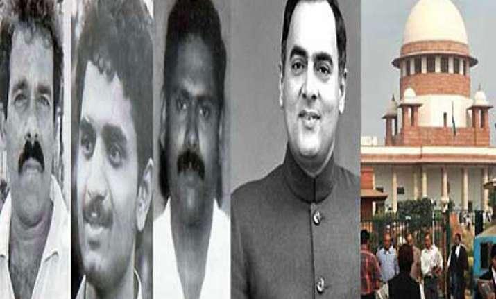 sc restrains tn govt from releasing rajiv gandhi s assassins