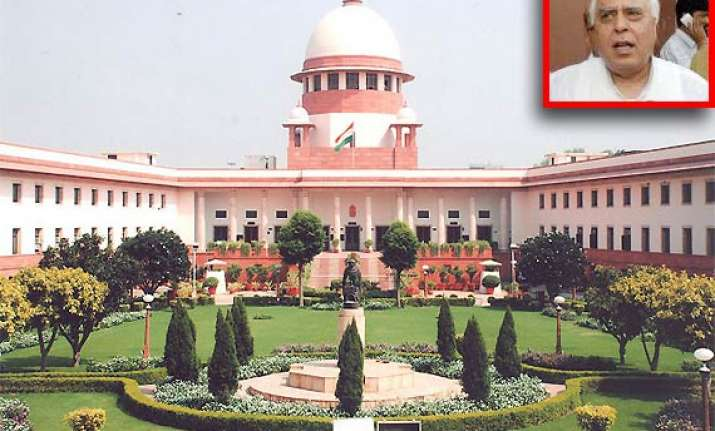 sc declines to interfere in pil against kapil sibal