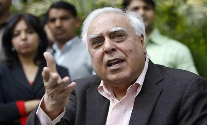 sc judgement no indictment of govt says sibal