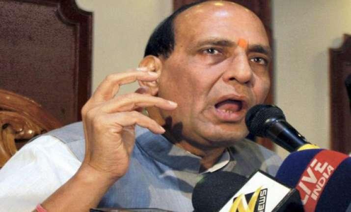 sp bsp cong lose public faith says rajnath