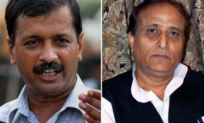 sp leader azam khan takes on arvind kejriwal