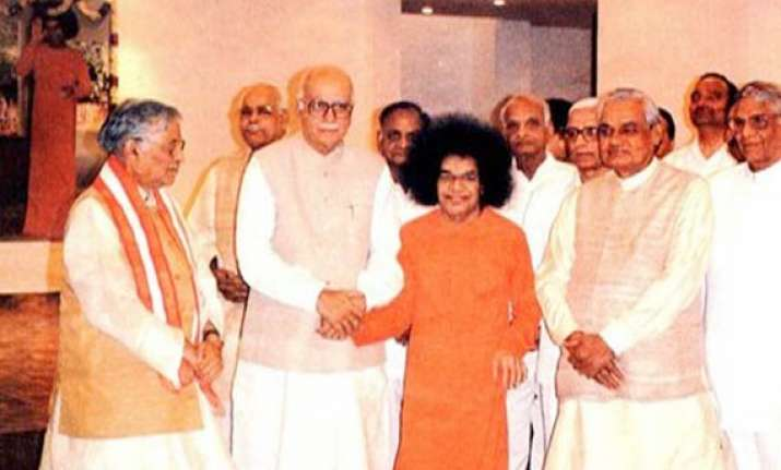 sai baba rightly predicted my release from prison advani