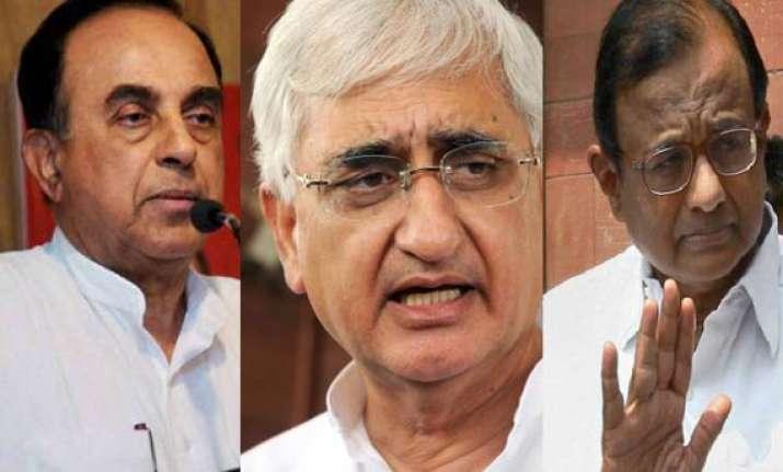 salman khursheed defends chidambaram calls nda demand