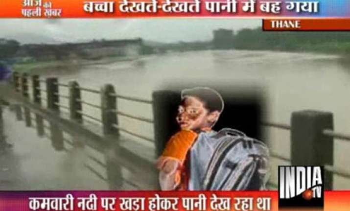 school boy washed away in bhiwandi river flood