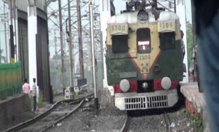 sealdah bound local train derails suburban services hit
