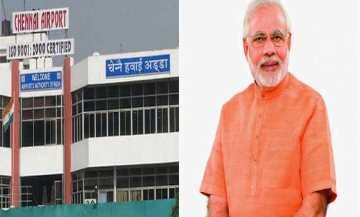 security beefed up at chennai airport ahead of pm s stopover