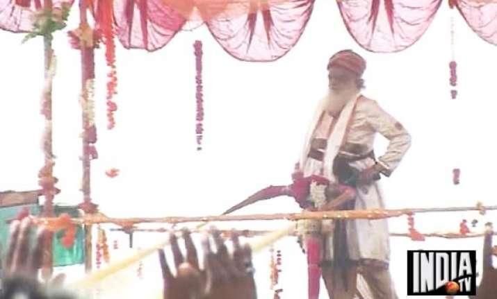 self styled godman asaram bapu again wastes lakhs of litres
