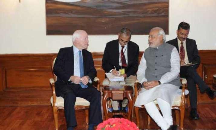 senator mccain meets pm narendra modi
