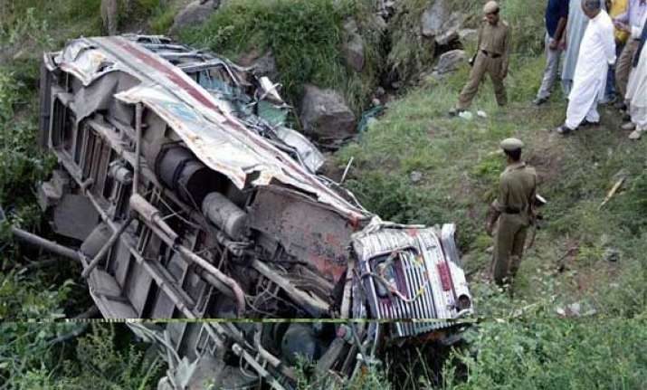seven passengers killed 41 injured as bus overturns